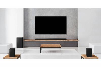 LG 7.1.4 Channel 770W Dolby Atmos Sound Bar with Meridian & Surround Speakers - SP11RA